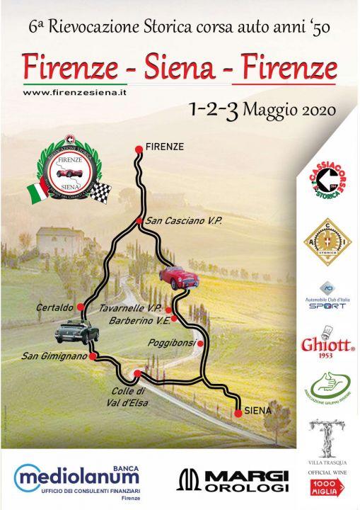 Locandina del Percorso Firenze Siena 2020